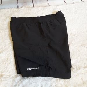 3/$30 Reebok black drawstring waist swim trunks
